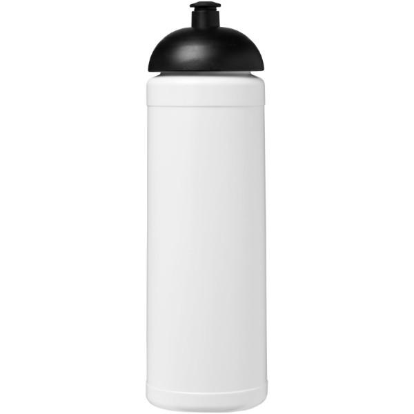 Baseline® Plus 750 ml Sportflasche mit Stülpdeckel - Weiss / Schwarz