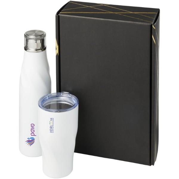 Hugo copper vacuum insulated gift set - White