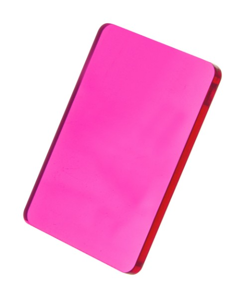 Custom Made Keyring CreaFob - Transparent Pink