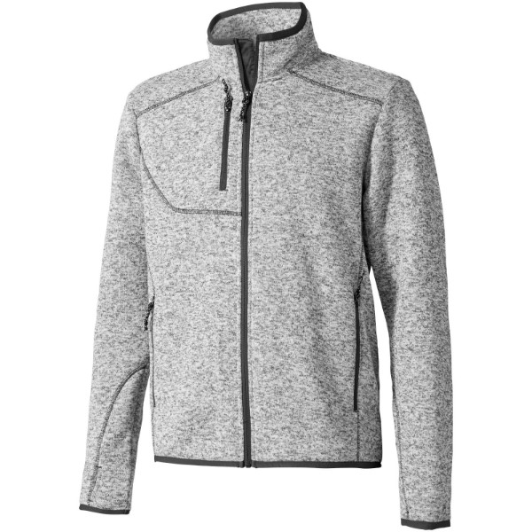 Tremblant men's knit jacket - Heather Grey / XXL