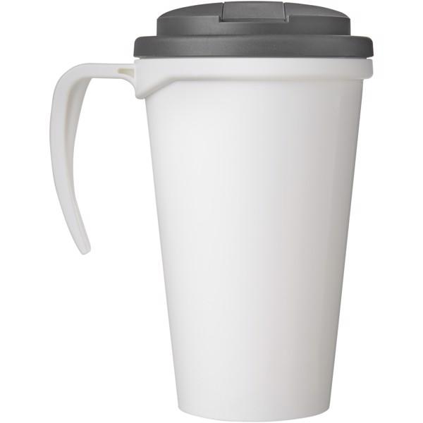 Brite-Americano Grande 350 ml mug with spill-proof lid - White / Grey