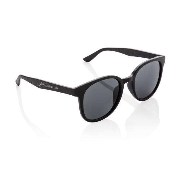 Sluneční brýle z pšeničné slámy - Černá