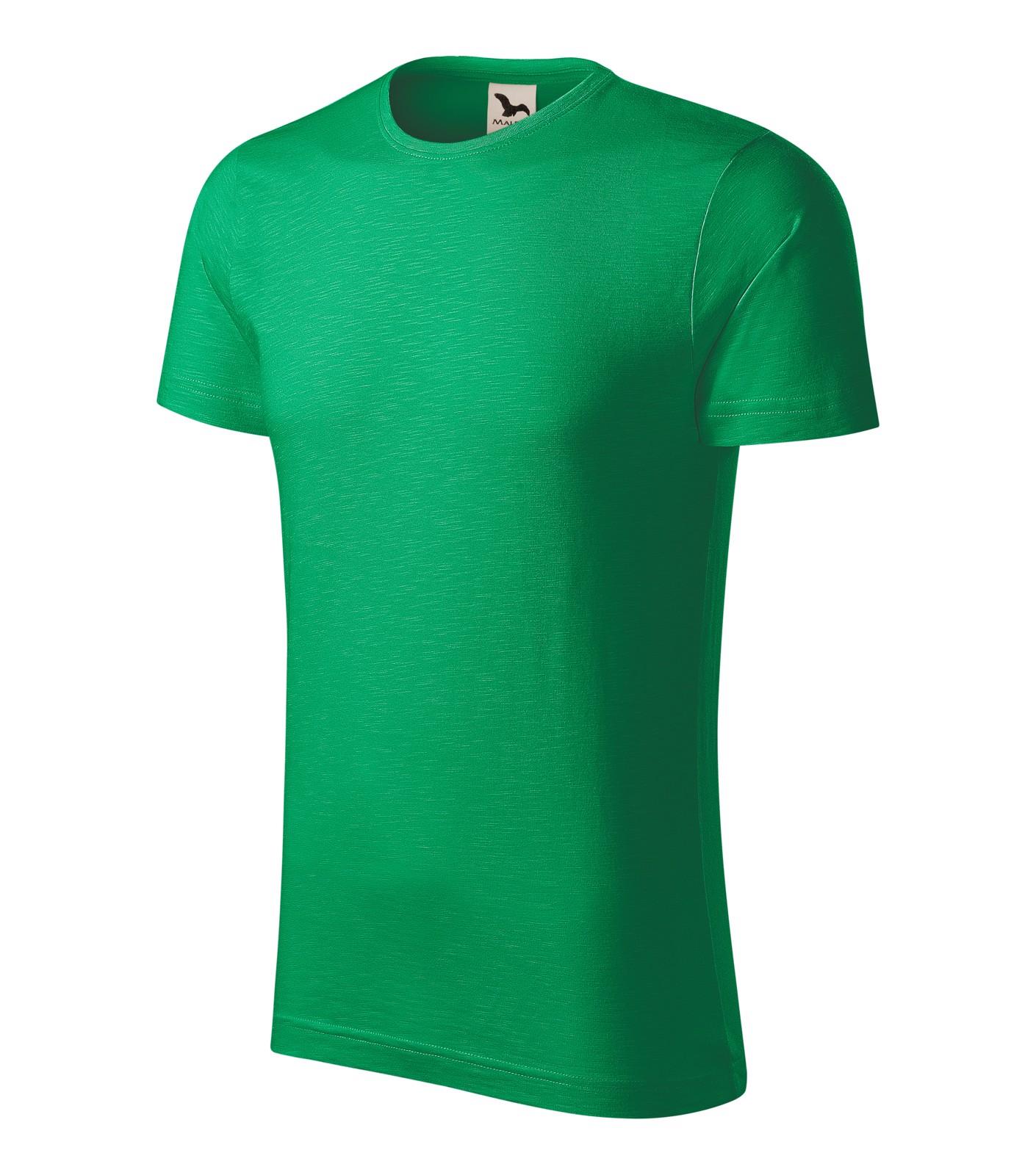 Tričko pánské Malfini Native - Středně Zelená / S