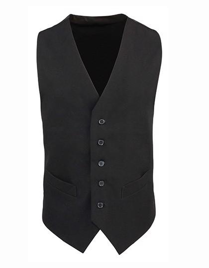 Men`S Lined Polyester Waistcoat - Black / XL