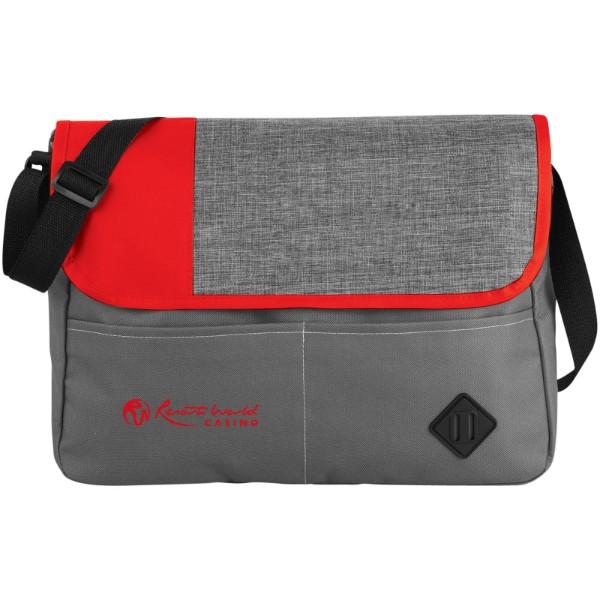 Offset messenger bag - Grey / Red