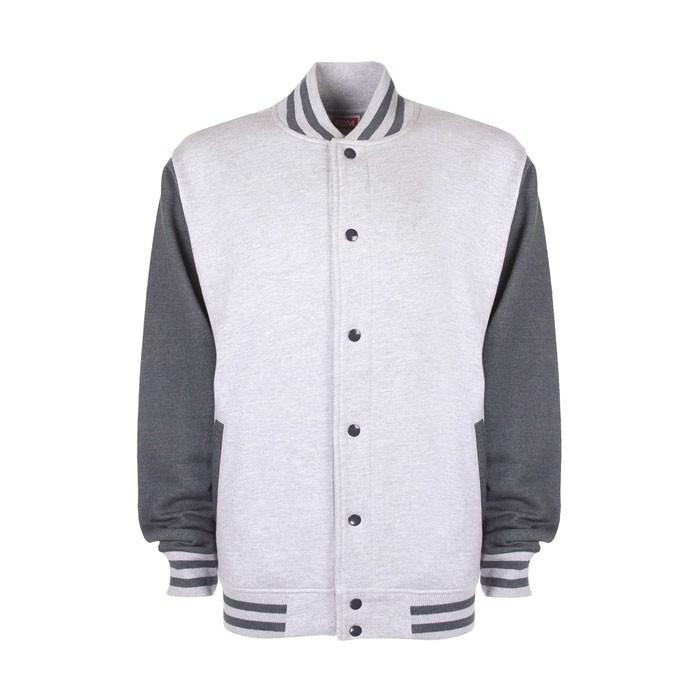 Unisex jacket 300 g/m2 Varsity Jacket Fv001 - Sport Grey / M