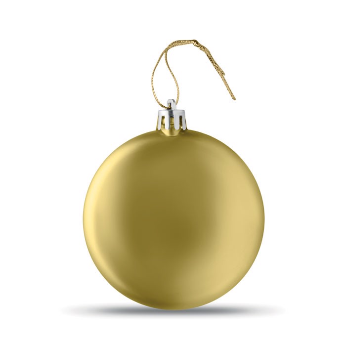 Flat Christmas bauble Lia Ball - Gold