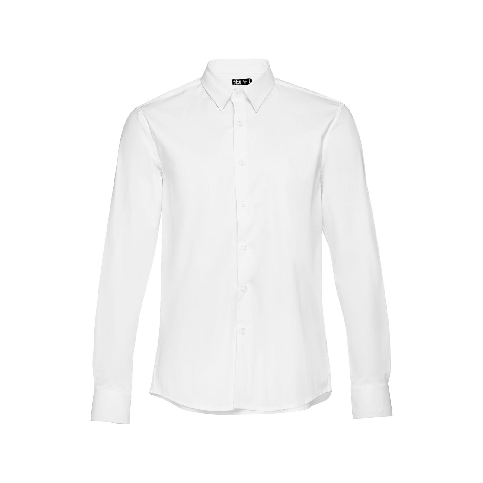 THC PARIS WH. Pánská popelínová košile - Bílá / S