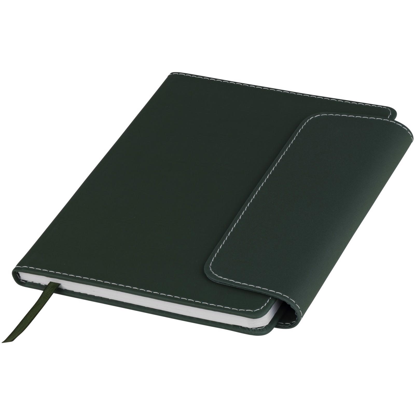 Notes A5 i długopis ze stylusem Horsens - Leśny zielony