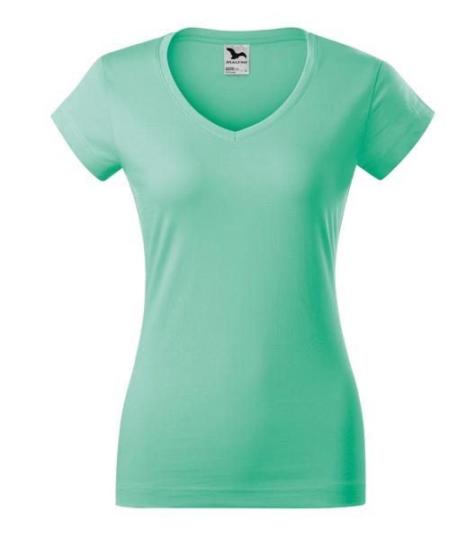 Tričko dámské Malfini Fit V-neck - Mátová / XS