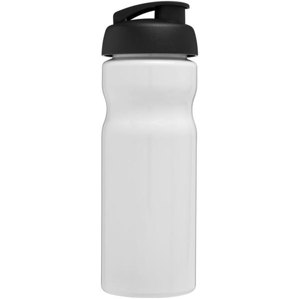 H2O Base® 650 ml Sportflasche mit Klappdeckel - Weiss / Schwarz