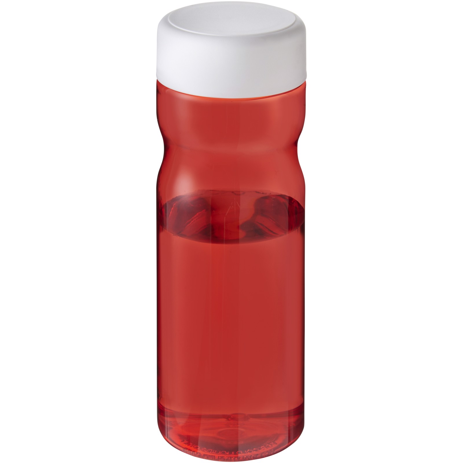 H2O Base 650 ml screw cap water bottle - Red / White