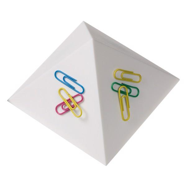 """Büroklammernhalter """"Magnet-Pyramide"""" - Weiß"""