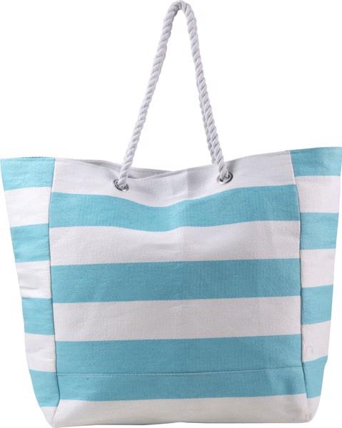Cotton beach bag - Light Blue