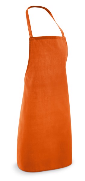CURRY. Apron in cotton and polyester - Orange