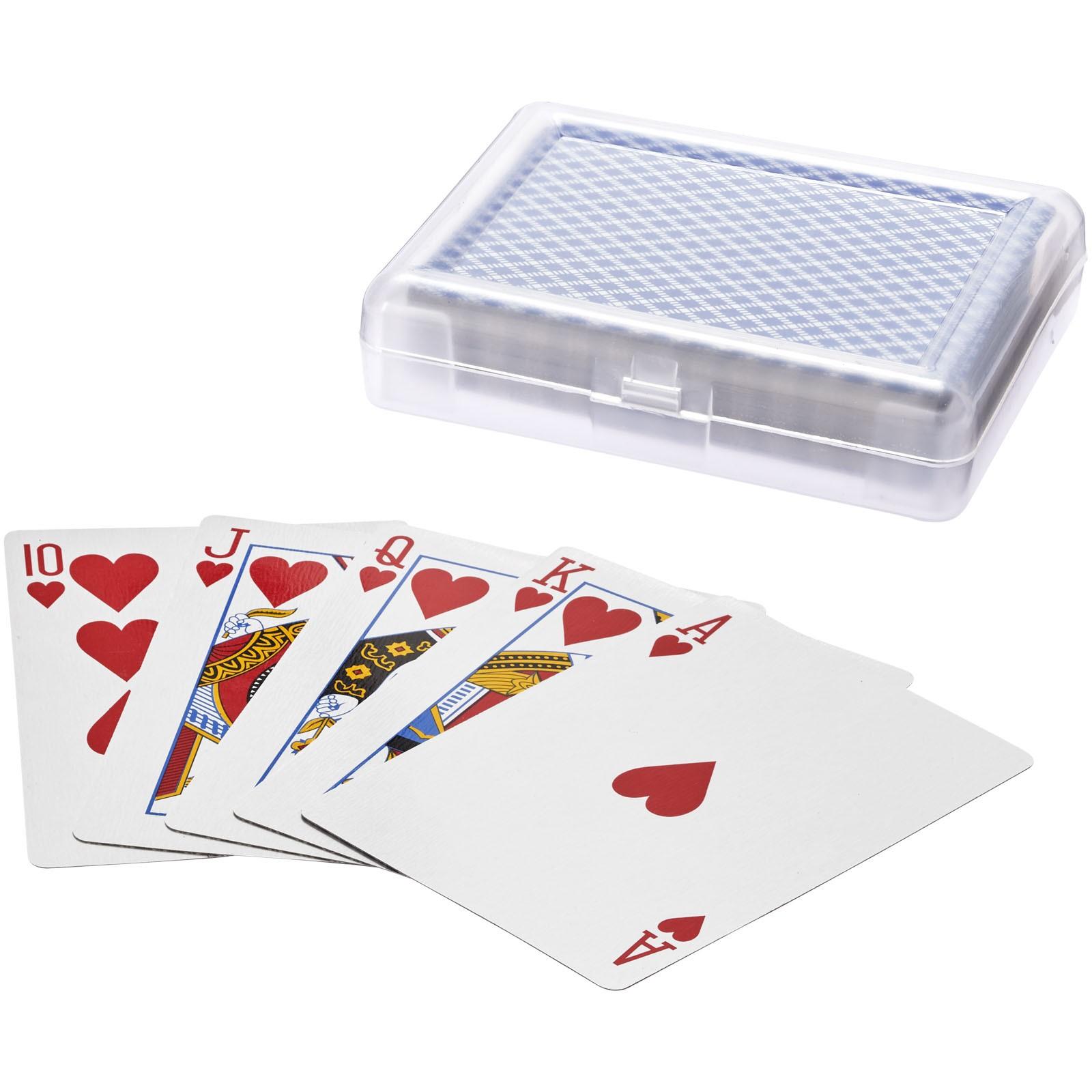 Balíček karet Reno v krabičce - Modrá / Průhledná