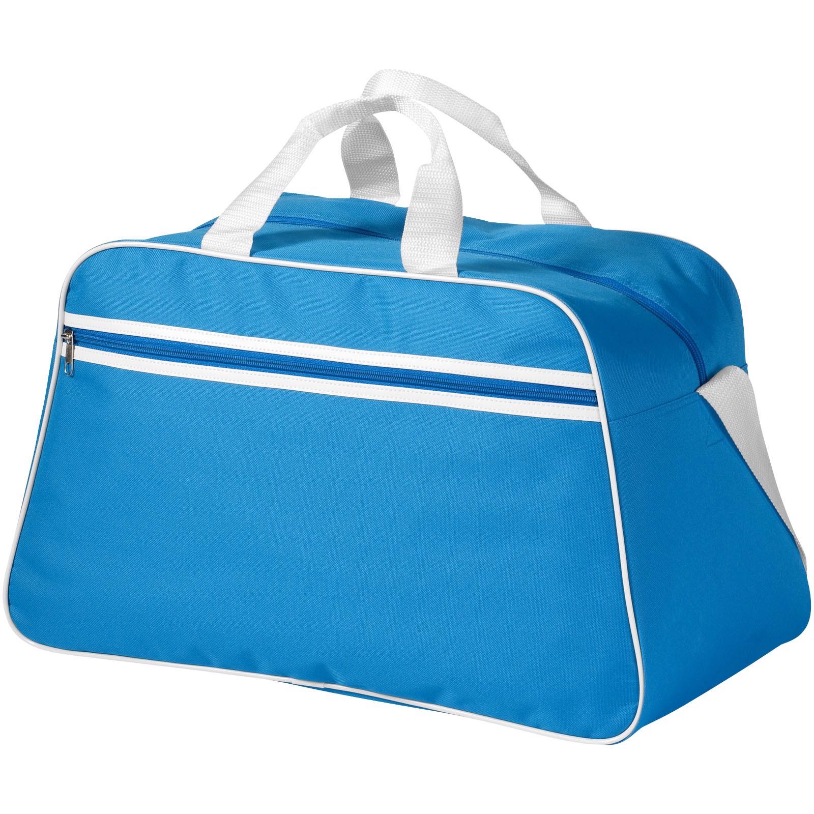 Sportovní taška San Jose - Process blue / Bílá