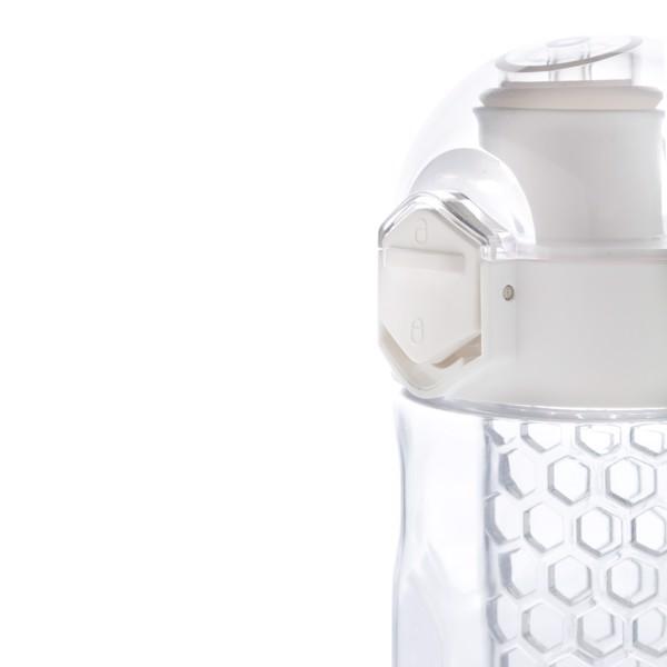 Nepropustná láhev Honeycomb s uzamykatelným víčkem - Bílá