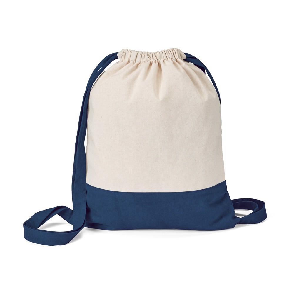 ROMFORD. 100% bavlněná stahovací taška - Námořnická Modrá