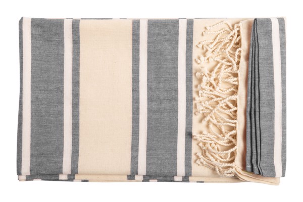 Beach Towel Yistal - Ash Grey / Natural