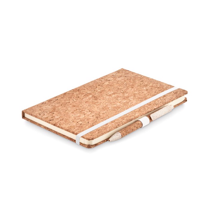 A5 cork notebook and pen set Suber Set