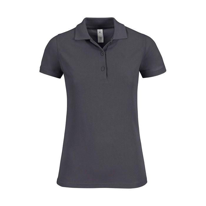 Damen Polo Shirt 180 g/m2 Safran Timeless Women - hellgrau / XS