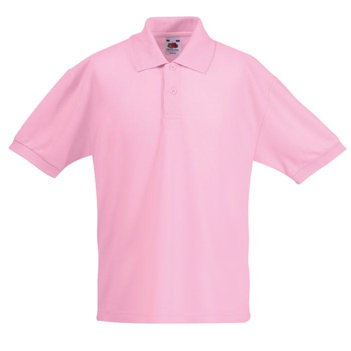 Dětská polokošile 65/35 Kids Polo 63-417-0 - Light Pink / M