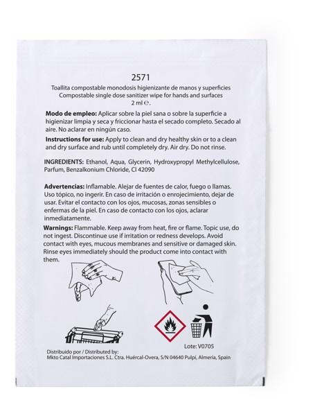 Toallita Higienizante Masup