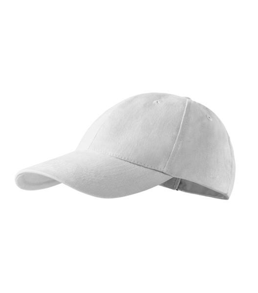 Čepice unisex Malfini 6P - Bílá / nastavitelná