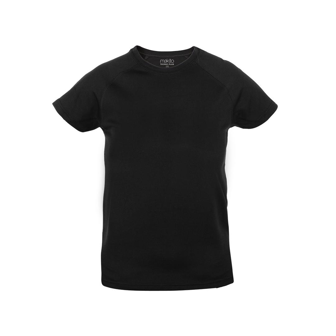 Camiseta Niño Tecnic Plus - Negro / 6-8