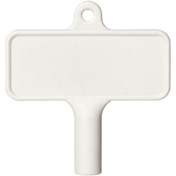 Plastový klíč na radiátor Largo - Bílá