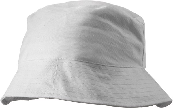 Cotton sun hat - White