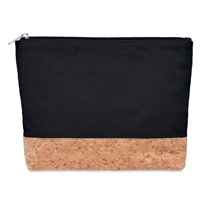 Kosmetyczka z korka i bawełny Porto Bag - czarny