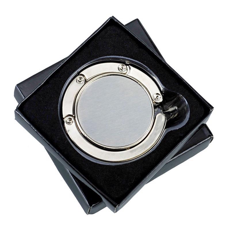 Składany wieszak na torebkę Glamour - Srebrny