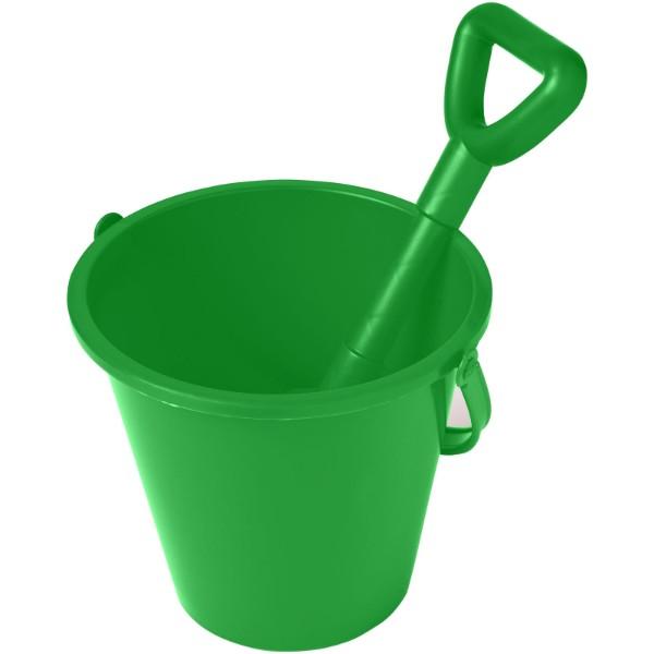 Finn beach bucket and spade - Green