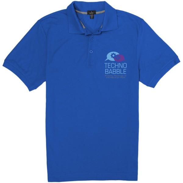 Crandall short sleeve men's polo - Blue / XL