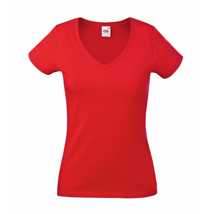 Ladies t-shirt 165 g/m² Lady-Fit Valueweight 61-398-0 - Red / XL
