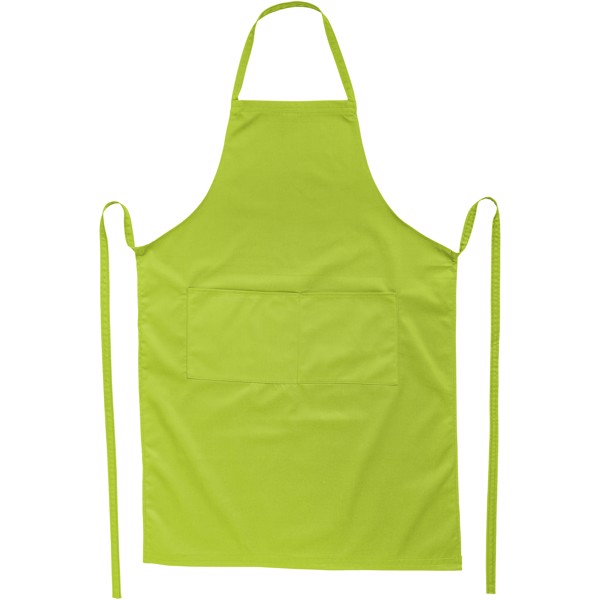 Viera apron with 2 pockets - Lime