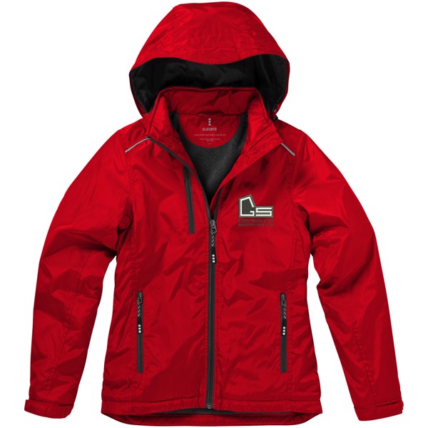 Smithers fleece lined ladies jacket - Red / S