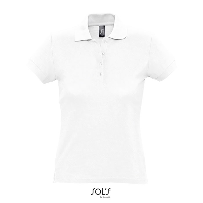 PASSION POLO MUJER 170g - Blanco / XL
