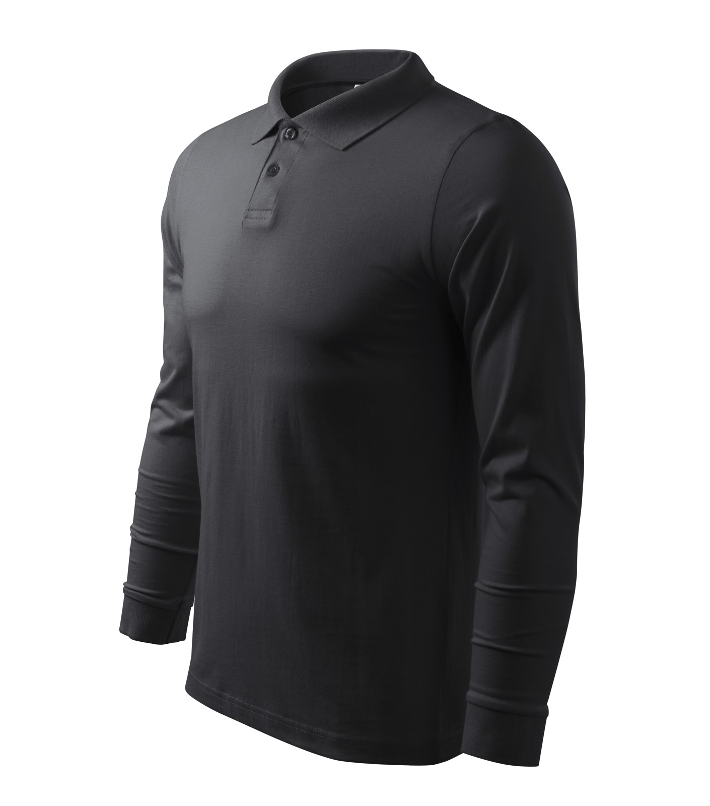 Polo Shirt men's Malfini Single J. LS - Ebony Gray / 2XL