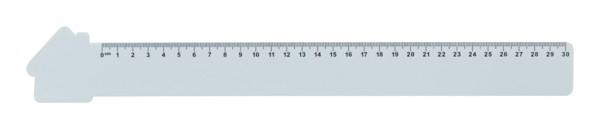 30 Cm Pravítko Couler 30, Domeček - Bílá