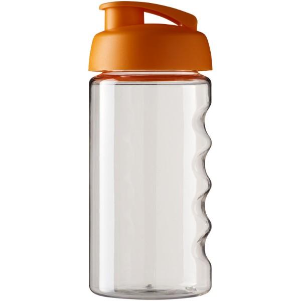 Sportovní láhev s vyklápěcím víčkem H2O Bop® 500 ml - Průhledná / 0ranžová