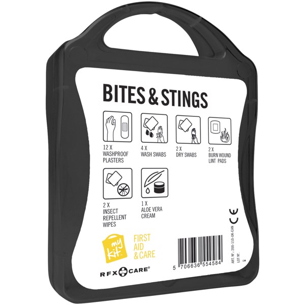 MyKit Bites & Stings First Aid - Solid Black