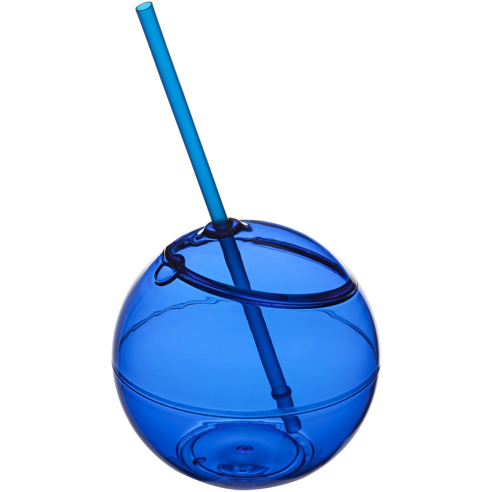 Koule se slámkou Fiesta - Světle modrá