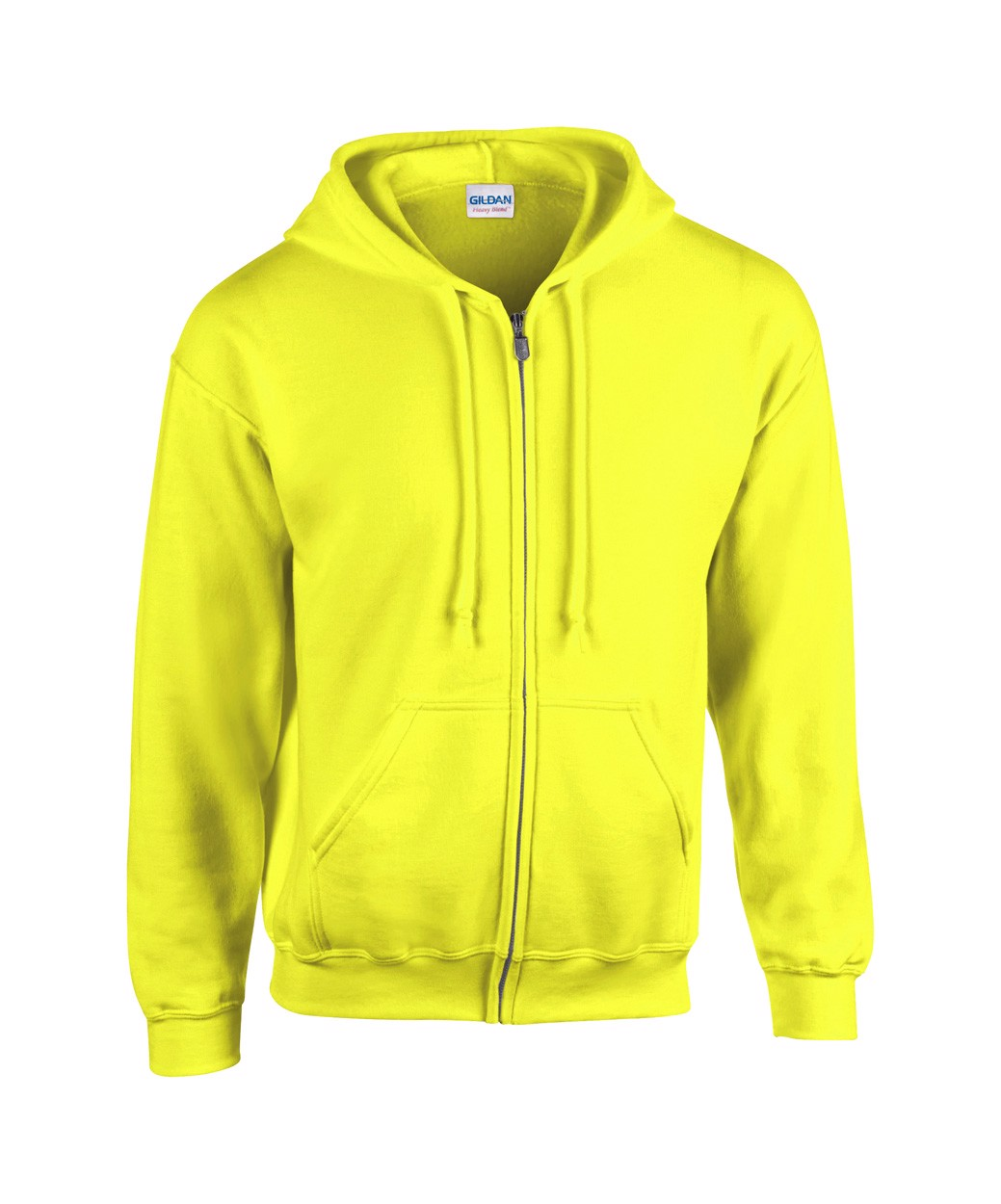 Mikina HB Zip Hooded - Fluorescenční Žlutá / XL