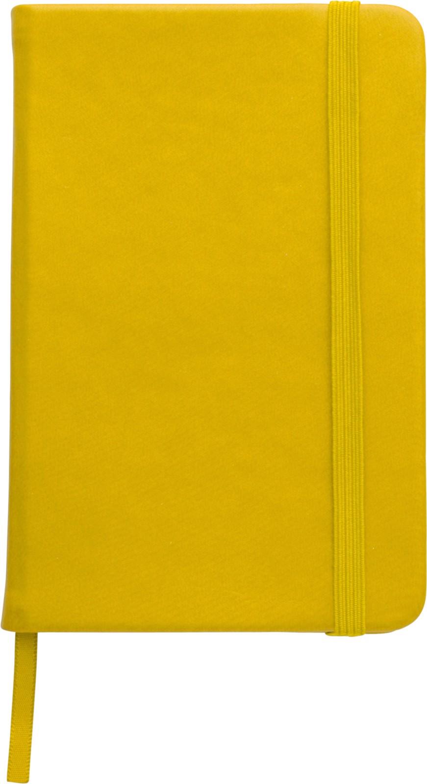 Notizbuch 'Color-Line' A5 aus PU - Yellow