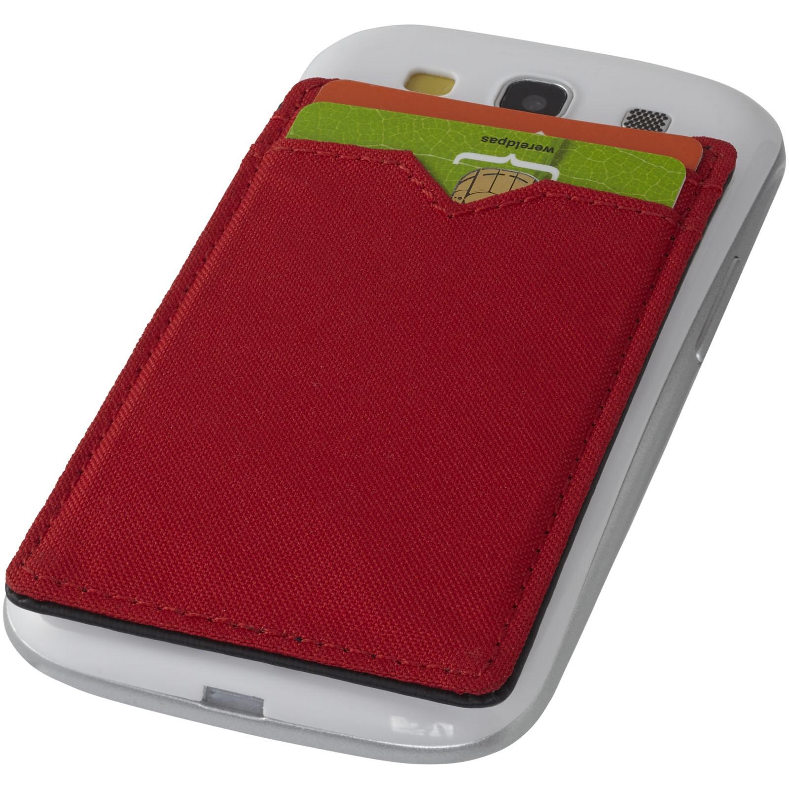 Dvoupřihrádková peněženka RFID - Červená s efektem námrazy