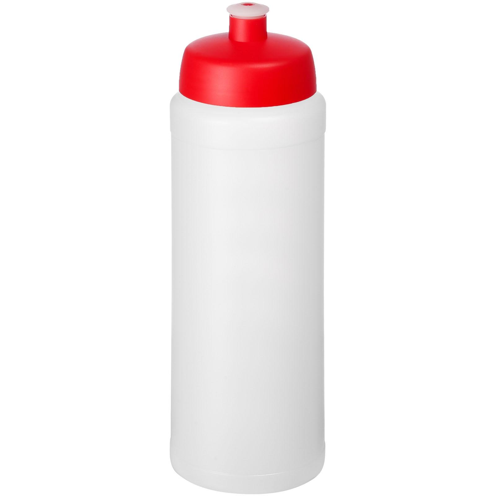Baseline® Plus grip 750 ml sports lid sport bottle - Transparent / Red
