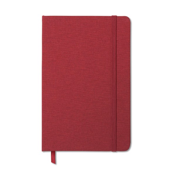 Two tone fabric cover notebook Fabric Note - Red